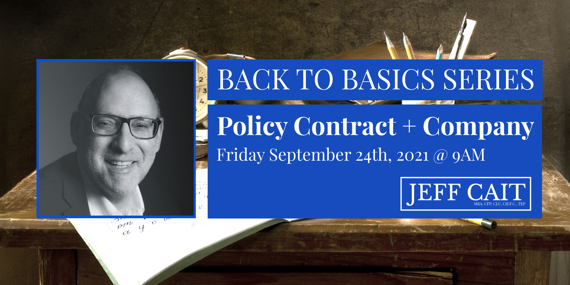 back to basics policy contract and company